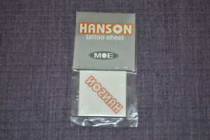 Brand New SEALED Hanson Official MOE Tattoos