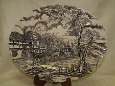 """""""ROYAL MAIL""""~ HAND ENGRAVING STAFFORDSHIRE IRONSTONE ~ 12 1/4"""" ~ Platter ~ Brown"""