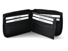 Men's Leather Wallet Credit Card Holder Bi-fold Purse Zip Around