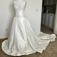 ALLURE Bridal Gown Wedding Dress Size 4 6 White Ivory Silver NEW $1600 NWT