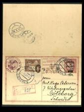 Eastern Silesia:Polish Post:May 1920 uprated reply card to Sweden, expertized