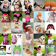 Baby Boys Girls Beanie Crochet Knit Hat Winter Warm Cap Fit  Photo Costume Props