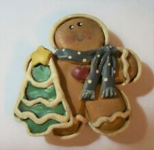 """Gingerbread Man with Christmas Cookie Resin 3D Fridge Magnet 2"""" x 2"""""""
