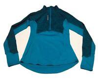REEBOK SPEEDWICK Women's Size Small 1/2 Zip Blue Print Running Top Thumbholes
