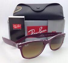 RAY-BAN Sunglasses RB 2132 6054/85 55-18 NEW WAYFARER Burgundy-Clear/Brown Fade