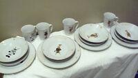 Holiday Xmas Reindeer 14-Piece Dinnerware Set - Comet, Cupid , Blitzen, Rudolph