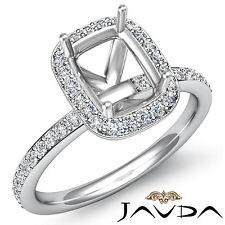 Diamond Engagement Cushion Shape Proposed Halo Ring Platinum 950 Semi Mount 1Ct