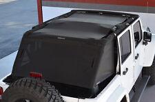 Jeep JK Spiderwebshade Unlimited ShadeCage 4DR TrailMesh - Black