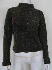 Rue 21, R21 Multi Color Green Sweater Turtle Neck Soft Acrylic Nylon Size M Jr