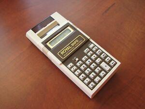 NEW/NOS RARE Vintage ROYAL 8 HP D LCD pocket printing calculator