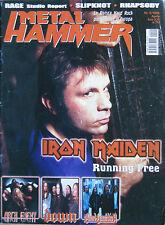 METAL HAMMER 4 2002 Iron Maiden Slipknot Blind Guardian Rhapsody Millencolin