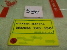 Honda 125 150 Dream C92 C95 CA Vintage Used Original Owners Manual #VP-MAN530