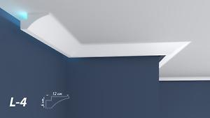 XPS Polystyrene LED Indirect Lighting Up lighter Lightweight Coving Cornice L-4