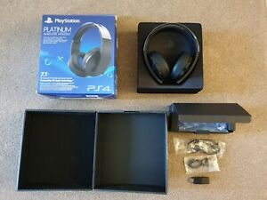Sony PlayStation 4 Platinum Wireless Headband Headset Free delivery.