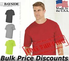 Bayside Mens USA-Made 100% Cotton Short Sleeve T Shirt 5040 up to 4XL