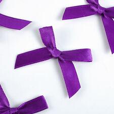 50pcs Mini Satin Ribbon Flowers Bows Gift DIY Craft Wedding Decoration ornament