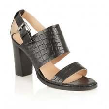 Ravel Glide Designer Summer Dress Block Heeled Slingback Sandals Black UK 3