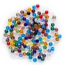 50pcs Round Mixed Faceted Crystal Glass loose spacer Beads Jewelry Making 6mm