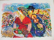"Zamy Steynovitz ""Wedding in the Holy City"" Signed Number Serigraph Israel bride"