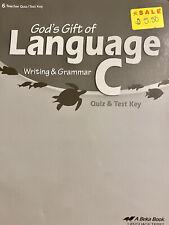 abeka 6th grade reading God's Gift of Language C quiz and Test Key