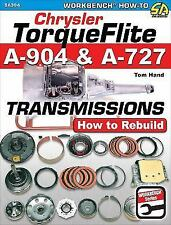 Chrysler Torqueflite A904 and A727 Transmissions: How to Rebuild (Paperback or S