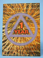 SOBRIETY GREETING CARD -YEARLY ANNIVERSARY - RECOVERY- 1 - 10 YEARS