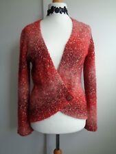 Per Una Wool Blend Cardigan in shades of Orange, Size 12/14