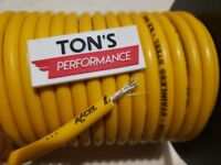 ACCEL 8.8mm STAINLESS STEEL Yellow SPARK PLUG WIRE ignition Silicone Plus foot