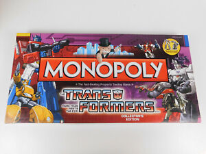 Monopoly Transformers Collectors Edition Game 2009 w/ 6 Pewter Figures