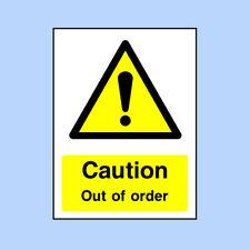 Caution Out of Order Sign - Caution, Health & Safety, Danger, Sticker GEN0057