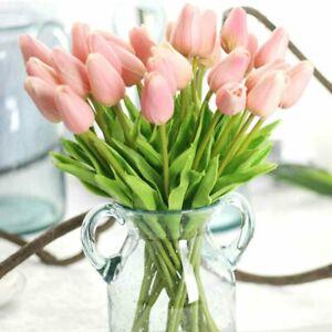 Artificial 1 Head Holland Tulip Flower Garden Bridal Bouquet Floral Decor#H5O