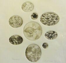 unleserlich signiert - PROBEDRUCK- 9 Radierungen auf 1 Blatt 1974: FANTASIE ART