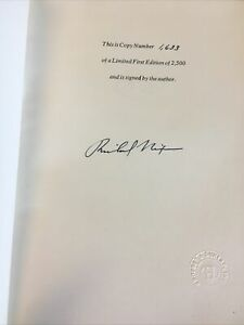 """Richard Nixon President Signed book """"Memoirs"""" Signed Limited Edition"""
