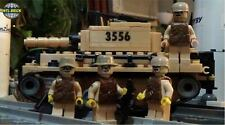 Army KM-10 Main Battle Tank with 4 Wildcat Soldier minifigures Lego parts Set