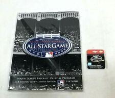 2008 MLB Allstar Game Yankee Stadium Program Scorecard & Logo Pin Set FREESHIP