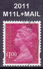 2011 Machin £1.00 Magenta SG U2933 M11L+MAIL DLR 2B Security Fine Used Stamp