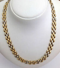 GIROCOLLO IN ORO GIALLO / BIANCO 18KT - 18KT SOLID MULTI TONE GOLD NECKLACE