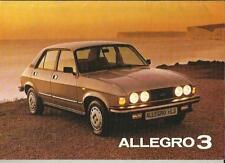 AUSTIN MORRIS ALLEGRO 3 SALES BROCHURE MARCH 1981
