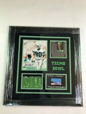 Steve Largent Seattle Seahawks  Autographed Picture Custom Framed with COA
