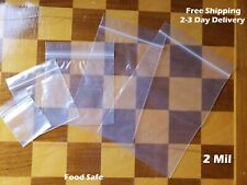 Clear Reclosable Zip Top 2Mil Bags Poly Plastic 2 Mil Lock Seal Baggies Jewelry