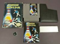 Championship Bowling -  NES Nintendo Game Original BOX Complete CIB Manual