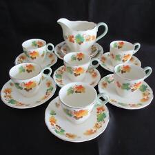 Rare Vintage W.H. Grindley Tea Set - C1930's England Autumn Leaves (6) x Demi-ta