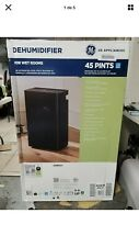 GE 45 pt. Dehumidifier with Built-In Pump Black for Wet Rooms ADEW45LY NEW SEALD