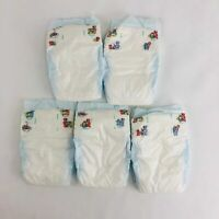 Vintage Pampers Baby Dry Diapers from 1998 - Plastic Backed Size 1 - 5ct Sample