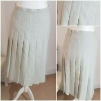 True Vintage 90s Mint Boho Lined Long Checked Pleated Midi Skirt Kilt 10