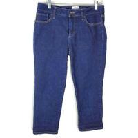 St. John's Bay Capri Crop Jeans Pants Women's Size 6 Blue Denim Stretch