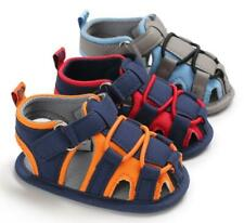 Baby Boy Crib Shoes Infant Kids Summer Sandals Child Toddler PreWalker Trainers