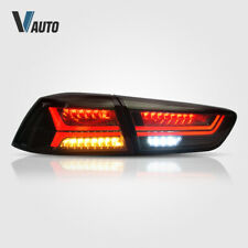 2008-2018 Mitsubishi Lancer EVO X Sedan 4DR Full Smoke LED Brake Tail Light Pair