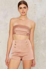 BNWT $175 Nasty Gal BOSSA Cindy Satin Shorts Size Small
