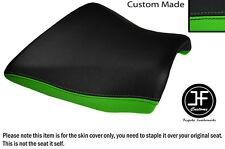 DSGN 2 BLACK L GREEN VINYL CUSTOM FOR KAWASAKI Z750 Z1000 04-06 FRONT SEAT COVER